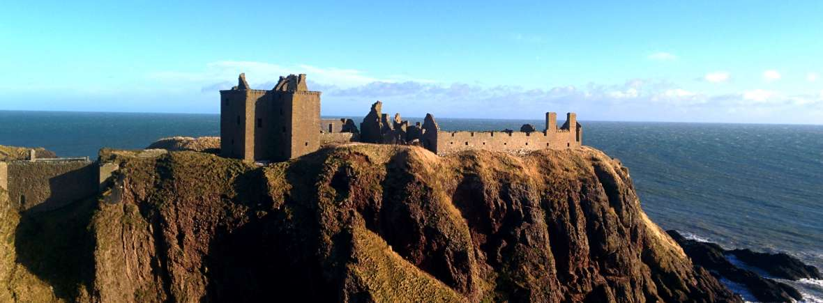 Dunnottar castle and the Aberdeenshire coastline