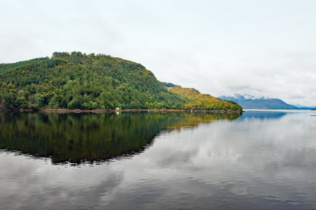 Partial view of the 3 lochs from Eilean Donan