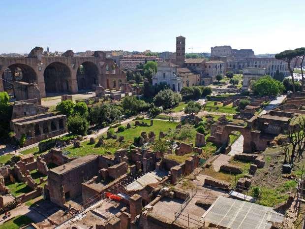 Roman forum aerial
