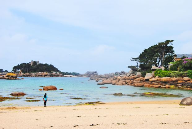 the Ploumanach beach in Brittany