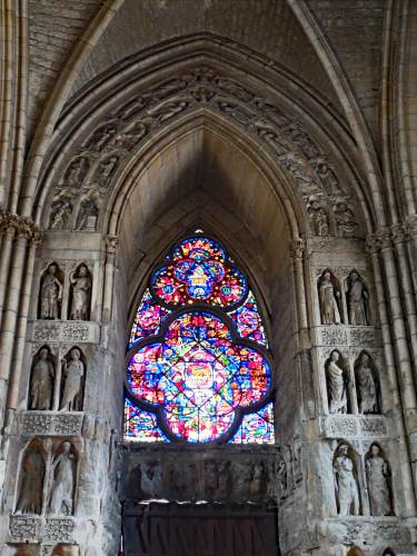 Inside the Notre Dame cathedral in Reims