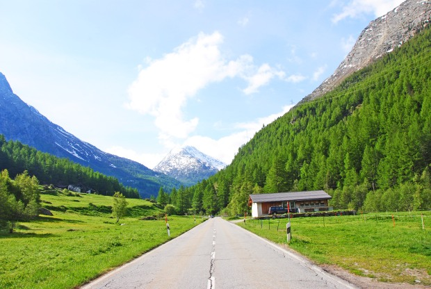 road in the saas valley