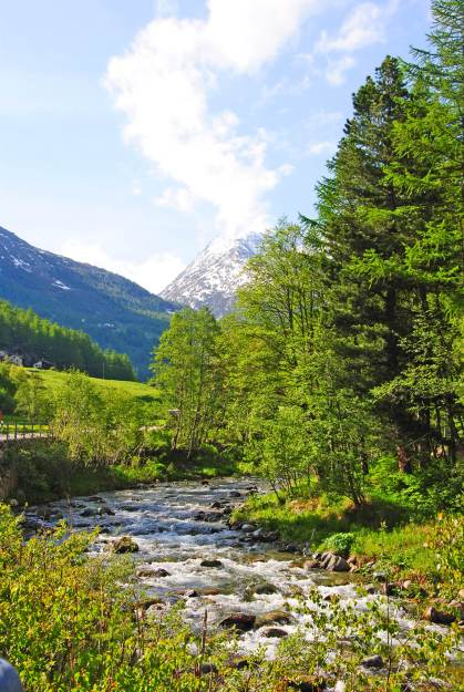 beautiful stream in the saas valley