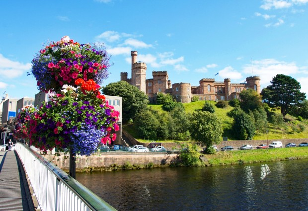 Inverness castle on a sunny day