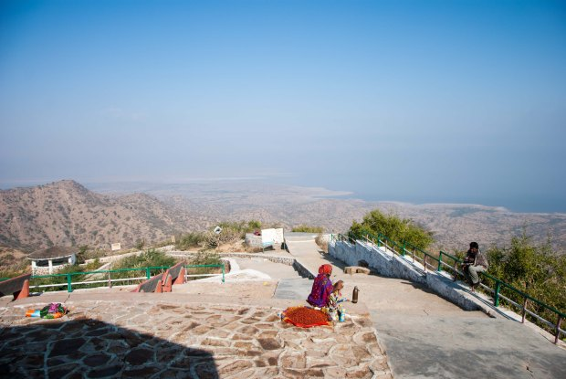 Views of the Arabian Sea from the top of Kala Dungar, Kutch