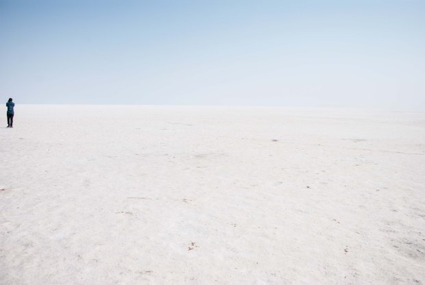 The expanse of the salt flats of the White Rann, Kutch