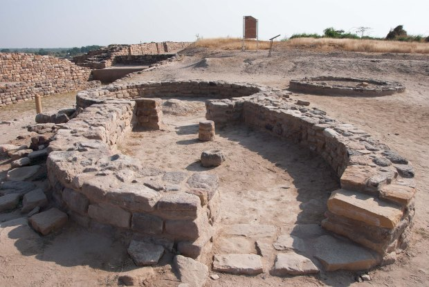 Foundation of Harappan dwellings at Dholavira