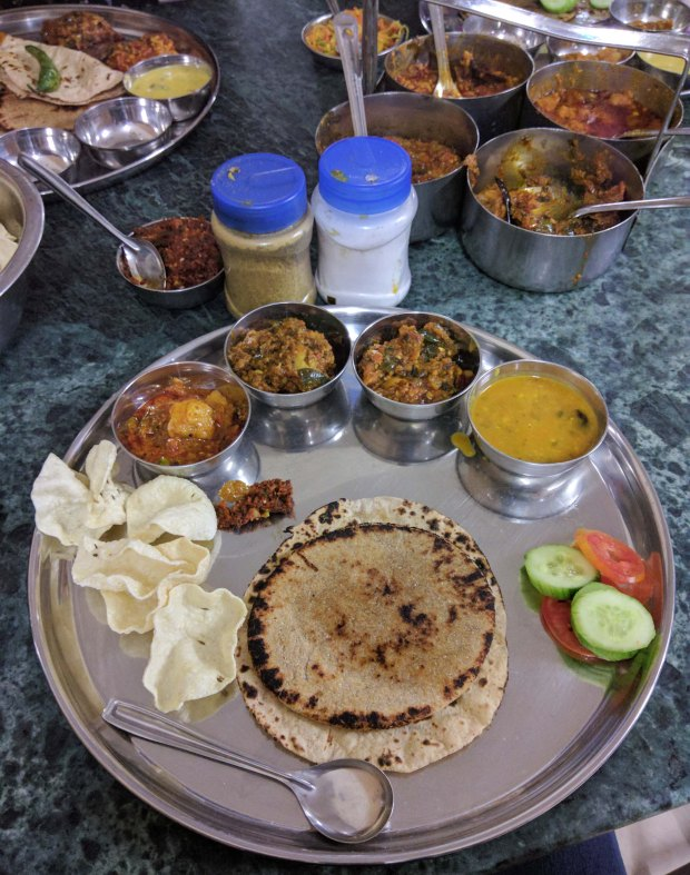 Kutchi thali at Umiyaji Dining Hall Bhuj